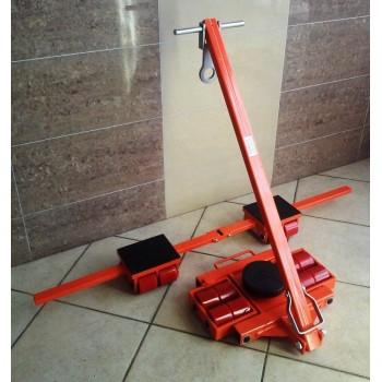 Zestaw transportowy rolkowy ROLKI wózki transportowe do przesuwania maszyn 16t