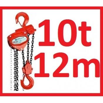 WYCIĄGARKA WCIĄGNIK WCIĄGARKA ŁAŃCUCHOWA 10t 10000kg 12m