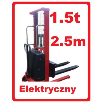 Wózek Masztowy podnośnikowy elektryczny 1.5t 1500kg na 2.5m