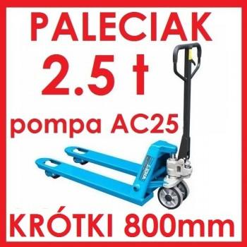 WÓZEK PALETOWY PALECIAK 2.5 t KRÓTKI 800mm AC25