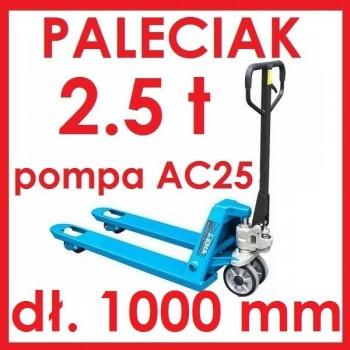WÓZEK PALETOWY PALECIAK 2.5 t Średni 1000mm AC25