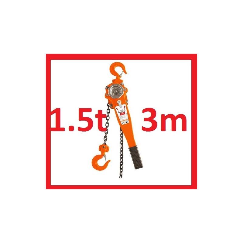 wciągarka dzwigniowa 1.5t 3m wyciągarka