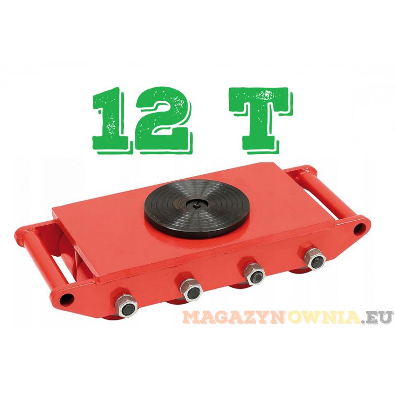 ROLKI transportowe PLATFORMA do maszyn WÓZEK rolkowy 12T
