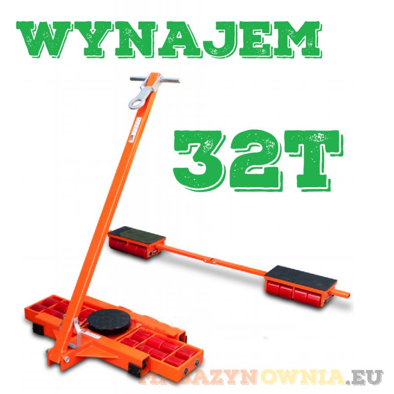 WYNAJEM/WYPOŻYCZENIE Zestaw transportowy rolkowy rolki transportowe platforma 32t