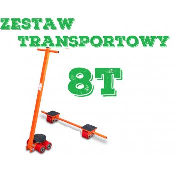 Zestaw transportowy rolkowy ROLKI wózki transportowe do przesuwania maszyn 8t