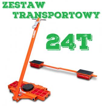 Zestaw transportowy rolkowy ROLKI wózki transportowe do przesuwania maszyn 24t