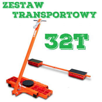 Zestaw transportowy rolkowy ROLKI wózki transportowe do przesuwania maszyn 32t