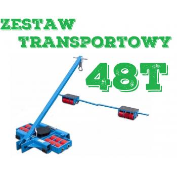 Zestaw transportowy rolkowy ROLKI wózki transportowe do przesuwania maszyn 48t