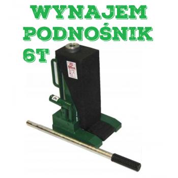 Wynajem/Wypożyczenie  Podnośnik pazurowy maszynowy hydrauliczny niskiego podnoszenia 6t 60KN