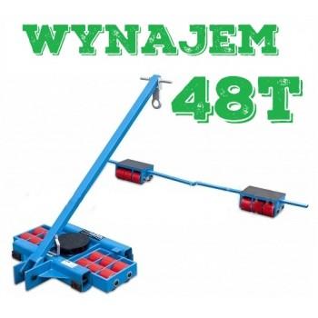 Wynajem / Wypożyczenie Zestaw transportowy rolkowy ROLKI wózki transportowe do przesuwania maszyn 48t